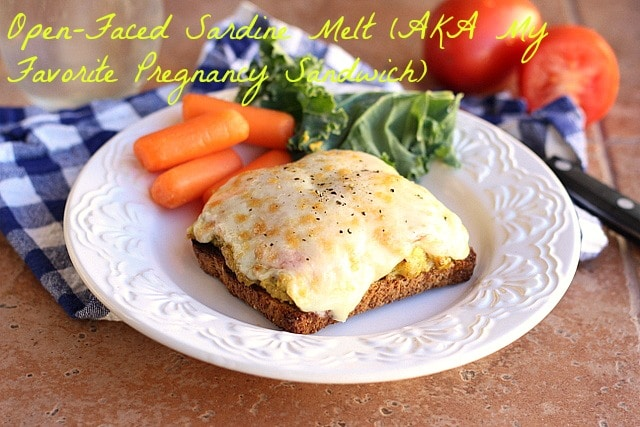 Open-Faced Sardine Melt (AKA My Favorite Pregnancy Sandwich)