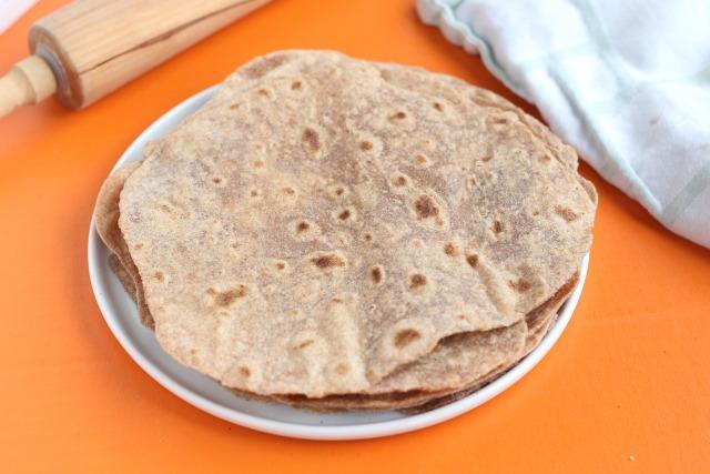 Homemade tortilla recipe made with spelt flour