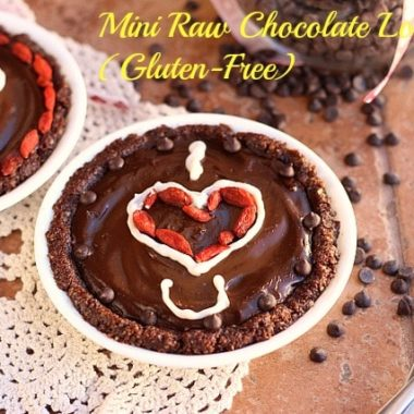 Mini Raw Chocolate Love Pies (Gluten-Free)