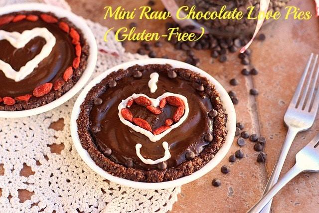 Mini Raw Chocolate Love Pies (Gluten-Free)