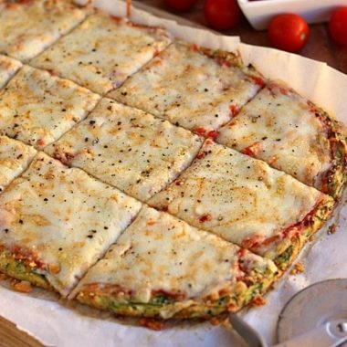 Nut-Free and Gluten-Free Zucchini Pizza Crust