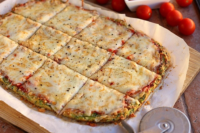 Nut-Free and Gluten-Free Zucchini Pizza Crust 2