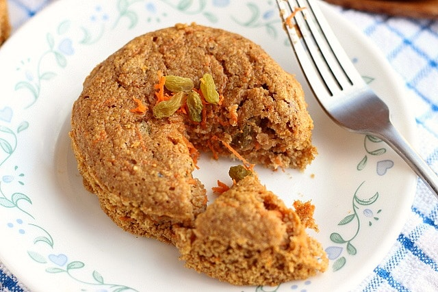 Carrot Raisin Snack Cakes for Two (Gluten-Free) 3