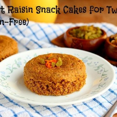 Carrot Raisin Snack Cakes for Two (Gluten-Free)