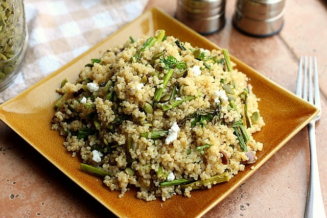 Spring Break Quinoa and Asparagus Salad (GF, Vegan Option) 2