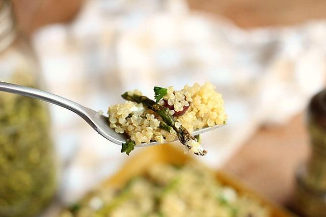 Spring Break Quinoa and Asparagus Salad (GF, Vegan Option) 4