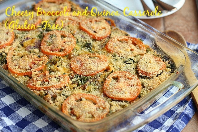 Cheesy Broccoli and Quinoa Casserole (Gluten-Free)