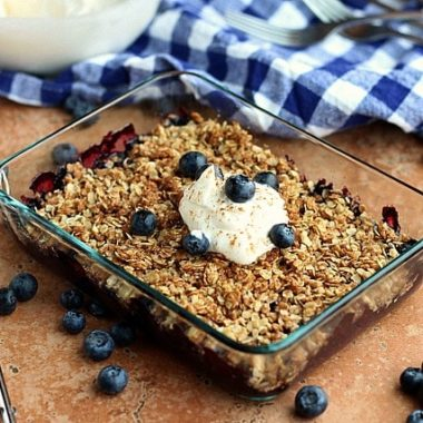 Lightened up blueberry crisp recipe