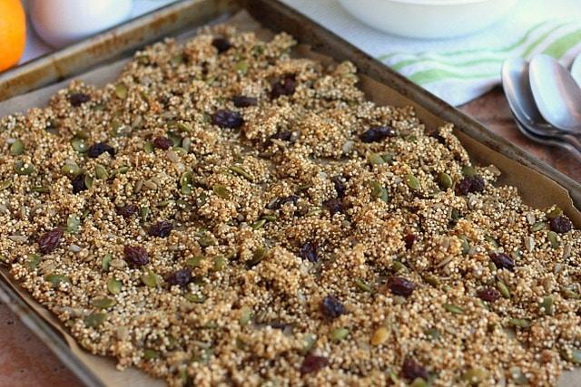 Maple Cinnamon Quinoa Granola (Vegan, Nut-Free) 2