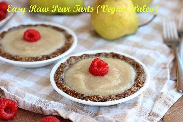 Easy Raw Pear Tarts (Vegan, Paleo)