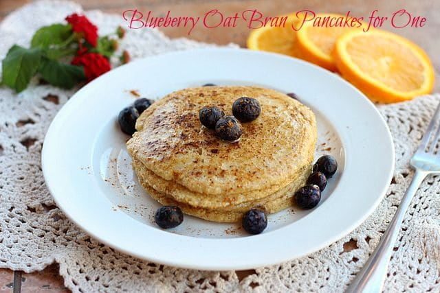 Blueberry Oat Bran Pancakes for One--Video