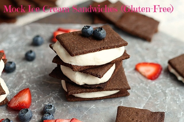 Mock Ice Cream Sandwiches (Gluten-Free) 1