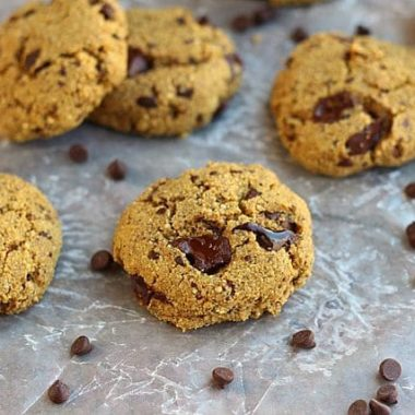 Quinoa flour chocolate chip cookies