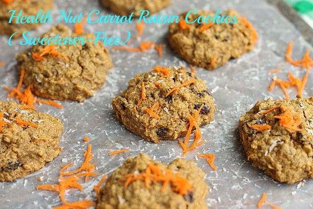 Health Nut Carrot Raisin Cookies (Sweetener-Free)