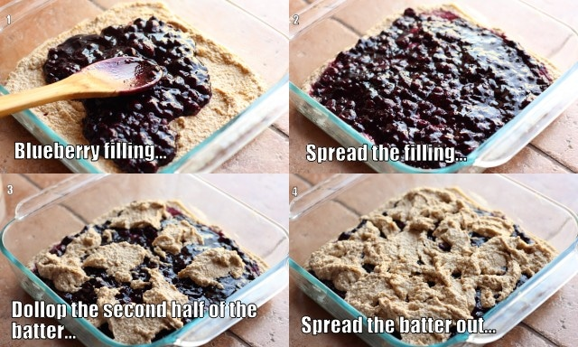 How to make blueberry oat bars