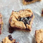 Healthy blueberry pie bars