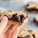 Blueberry oatmeal bars made with fruit