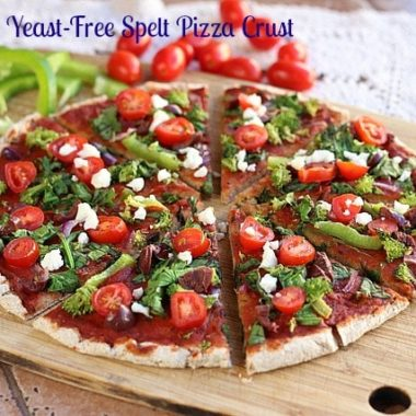 Oil-Free, Yeast-Free Spelt Pizza Crust (Vegan)