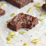 Fudgy Pumpkin Seed Flour Brownies (Low Sugar)