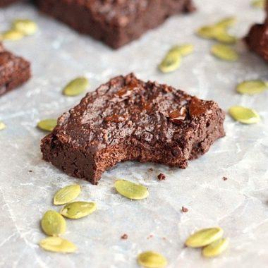 Pumpkin seed flour brownie