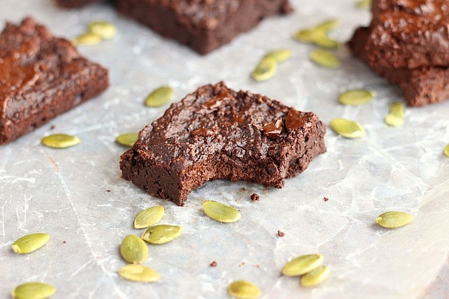 Pumpkin seed flour brownie recipe