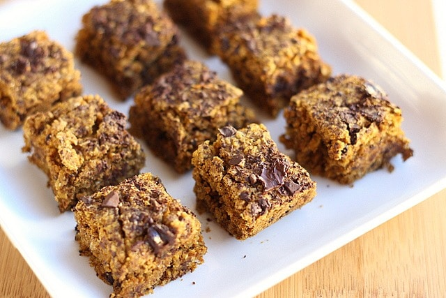 Chocolate Chip Pumpkin Bars (Vegan, Low Sugar) 4