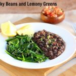 Garlicky Beans and Lemony Greens