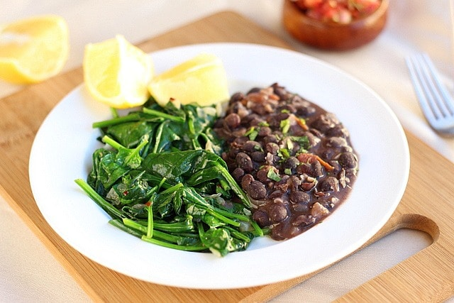 Garlicky Beans and Lemony Greens 3