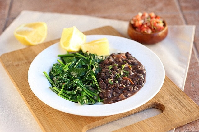 Garlicky Beans and Lemony Greens 4