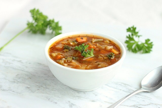 Low Calorie Spicy Cabbage Soup 2