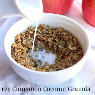 Sugar-Free Cinnamon Coconut Granola
