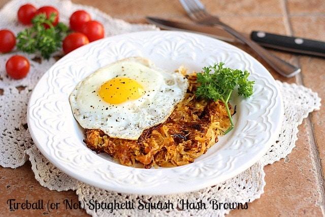 Fireball (or Not) Spaghetti Squash 'Hash Browns'
