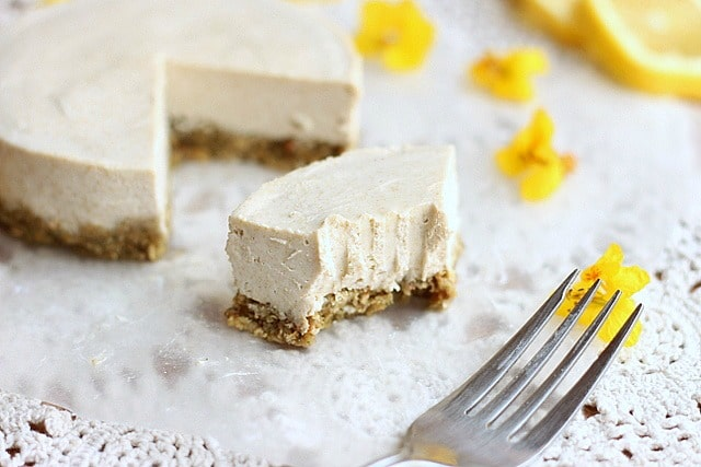 Nut-free, soy-free vegan cheesecake