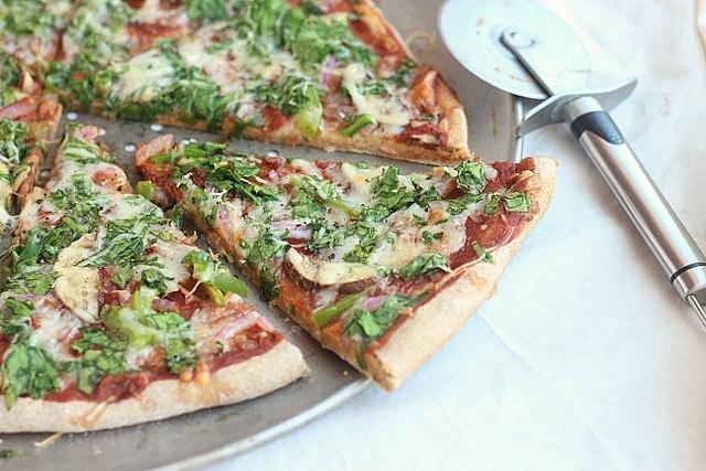 Applesauce Spelt Pizza Crust (Oil-Free, Yeast-Free) 3