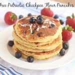 Sugar-Free Patriotic Chickpea Flour Pancakes