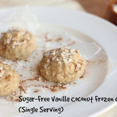 Sugar-Free Vanilla Coconut Frozen Cookies (Single Serving)