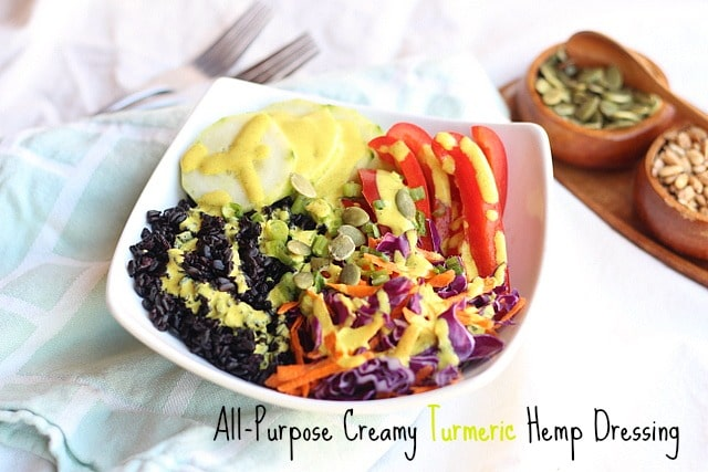 All-Purpose Creamy Turmeric Hemp Dressing