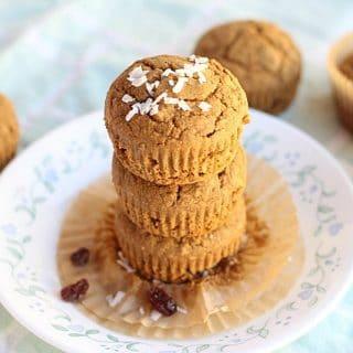 Apple Cinnamon Molasses Buckwheat Muffins