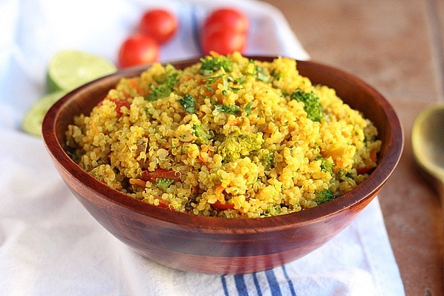 Curried Vegetable Quinoa Bowls