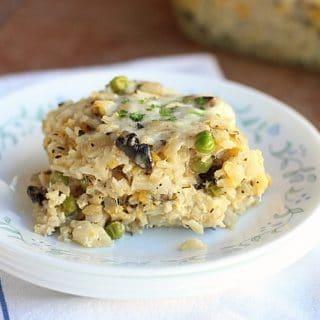 Cheesy Cauliflower Mushroom Gratin
