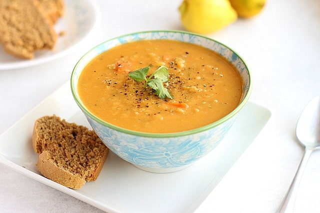 Lemony Red Lentil Soup