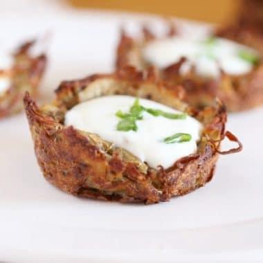 Healthy potato latkes without flour