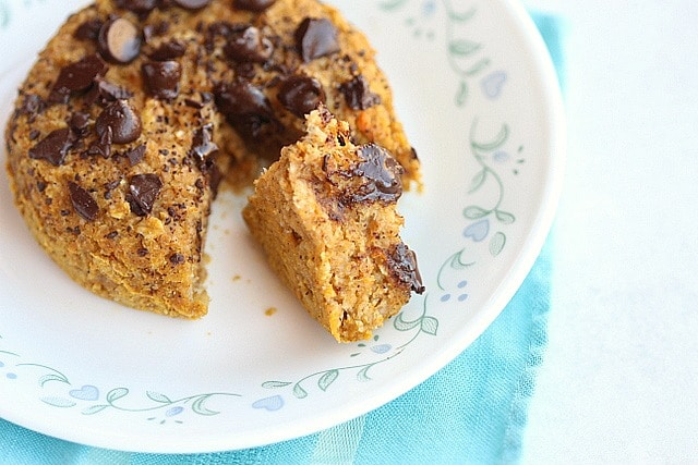 Chocolate Chip Sweet Potato Cakes for Two