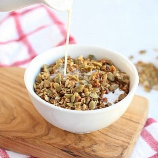 Low Sugar Buckwheat Pumpkin Seed Granola