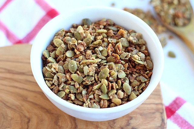 Low Sugar Buckwheat Pumpkin Seed Granola