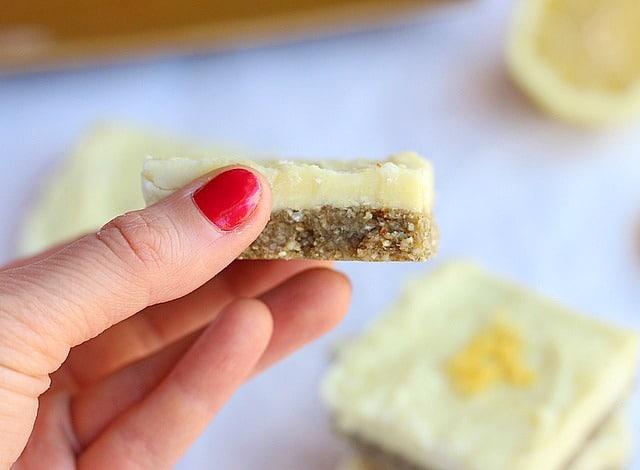 Low Sugar Raw Vegan Lemon Bars
