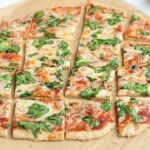 Thin crust pizza squares