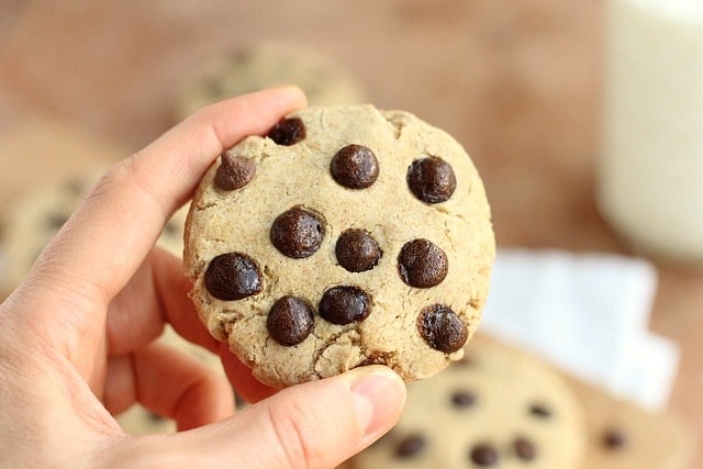 Chocolate chip cookies with rice flour