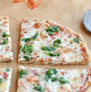 Yeast-free, sugar-free pizza dough for one