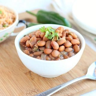 Pinto beans made in a pressure cooker